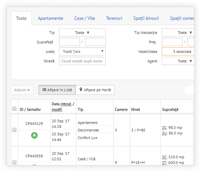 Prezentari PDF generate automat de catre programul imobiliar CRM REBS